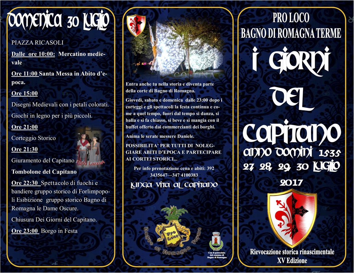 """I Giorni del Capitano"""" a Bagno di Romagna Terme – Unpli Nazionale"""